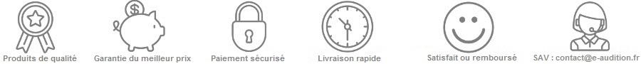 Piles, produits entretien appareils auditifs, protections auditives: Garanties e-audition.fr