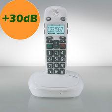 Téléphone sans fil grosses touches DECT freeTEL eco blanc sans répondeur