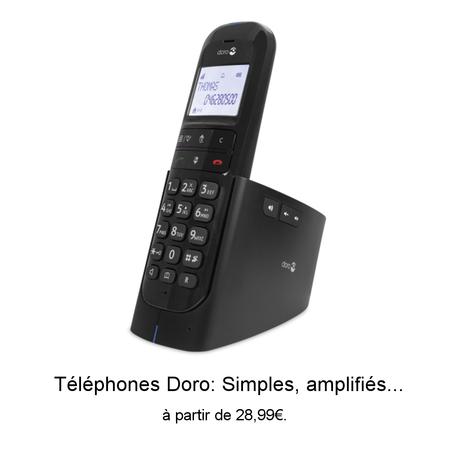 Téléphones grosses touches amplifiés Doro