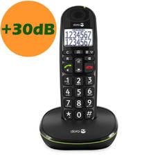 Téléphone sans fil Doro PhoneEasy 110 noir vue de face