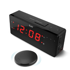 TimeShaker WOW - réveil digital pour personnes malentendantes avec coussin vibrant