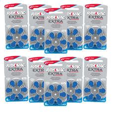 Pack ECO France 10 plaquettes de piles auditives Rayovac 675 sans mercure LIVRAISON INCLUSE