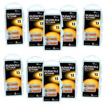 10 plaquettes de piles auditives Duracell 13 sans Mercure