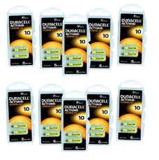 Pack ECO France 10 plaquettes de piles auditives Duracell 10 sans mercure LIVRAISON INCLUSE