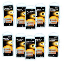 Pack ECO France 10 plaquettes de piles auditives Duracell 13 sans mercure LIVRAISON INCLUSE
