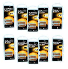 Pack ECO France 10 plaquettes de piles auditives Duracell 312 sans mercure LIVRAISON INCLUSE