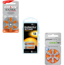 Pack d'essai de piles auditives 13 rayovac powerone duracell