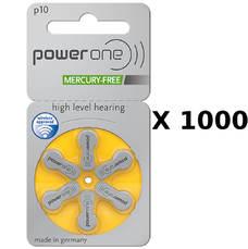 1000 plaquettes de piles auditives Powerone 10 sans mercure