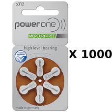 1000 plaquettes de piles auditives Powerone 312 sans mercure