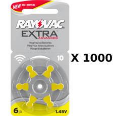 1000 plaquettes de piles auditives Rayovac 10 sans mercure
