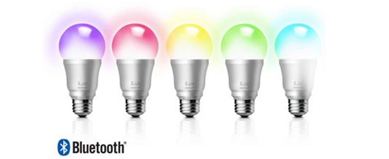 iLuv Rainbow 7 - Réveil lumière multicolore bluetooth dégradé couleurs