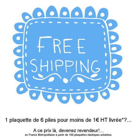 Livraison gratuite à partir de 100 plaquettes piles auditives achetées