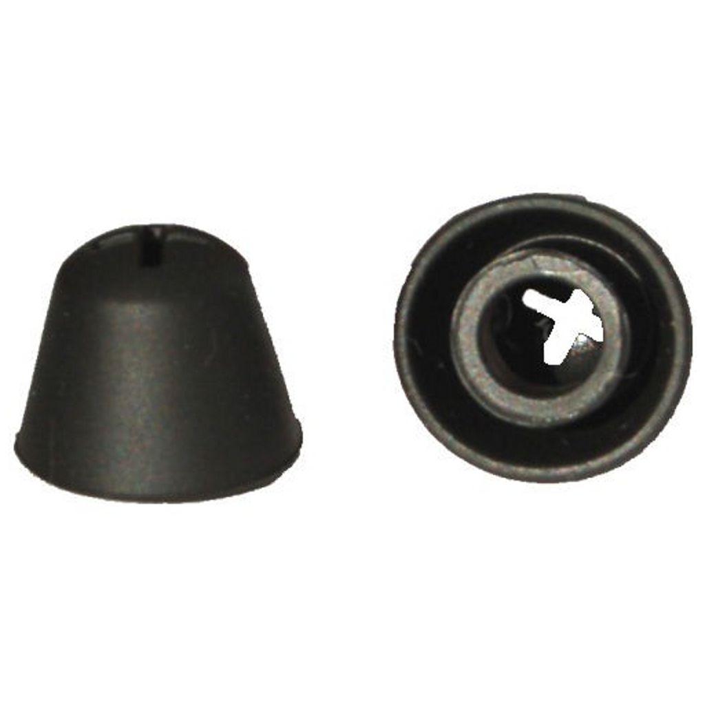 Paire embouts pour casque TV Sennheiser coniques noirs en silicone